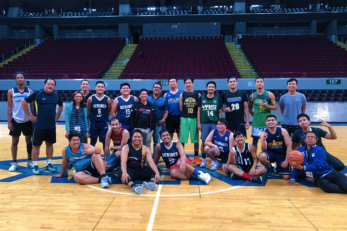 Tiebreaker Times UAAP Media survive Mikee Reyes' 67-point outing to open Goodwill Games campaign Basketball News UAAP  UAAP-NCAA Press Corps UAAP Season 81 Goodwill Games UAAP Season 81