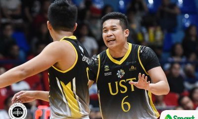 Tiebreaker Times Marvin Lee steps up for 'Splash Bro' Renzo Subido Basketball News UAAP UST  UST Men's Basketball UAAP Season 81 Men's Basketball UAAP Season 81 Renzo Subido Marvin Lee Aldin Ayo