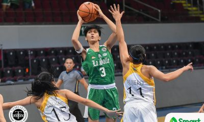 Tiebreaker Times Angel Quingco dominates as La Salle snaps UST streak Basketball DLSU News UAAP UST  UST Women's Basketball UAAP Season 81 Women's Basketball UAAP Season 81 Tin Capilit Lauryn del Ocampo Haydee Ong Grace Irebu DLSU Women's Basketball Cholo Villanueva Charmaine Torres Angel Quingco