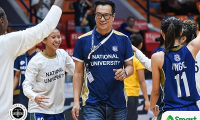 Tiebreaker Times Chasing UConn: Patrick Aquino hopes Lady Bulldogs break Huskies' streak with or without him Basketball News NU UAAP  UAAP Season 81 Women's Basketball UAAP Season 81 Patrick Aquino NU Women's Basketball