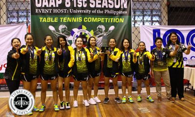 Tiebreaker Times It All Ends Here: UST snaps 11-year drought, dethrones La Salle DLSU News Table Tennis UAAP UST  UST Women's Table Tennis UAAP Season 81 Women's Table Tennis UAAP Season 81 Sherlyn Gabisay Sheena Ronquillo Lorinda Wadjad Kathleen Tempiatura Kate Encarnacion Jhoana Go Jannah Romero Emy Rose Dael DLSU Women's Table Tennis Danica Alburo Clara Dereho Chantal Alberto
