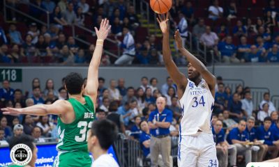Tiebreaker Times Angelo Kouame shines as Ateneo steamrolls La Salle ADMU Basketball DLSU News UAAP  UAAP Season 81 Men's Basketball UAAP Season 81 Tab Baldwin Louie Gonzalez DLSU Men's Basketball Ateneo Men's Basketball Angelo Kouame