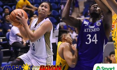 Tiebreaker Times For their historic performances, Ria Nabalan, Angelo Kouame crowned Chooks-to-Go/SMART POW ADMU Basketball News NU UAAP  UAAP Season 81 Women's Basketball UAAP Season 81 Men's Basketball UAAP Season 81 UAAP Player of the Week Ria Nabalan NU Women's Basketball Ateneo Men's Basketball Angelo Kouame