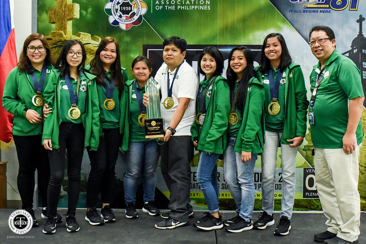 Tiebreaker Times Mira Mirano, La Salle make successful Women's Chess title defense ADMU AdU Chess DLSU FEU News NU UAAP UE UP UST  Virgenie Ruaya UST Women's Chess UP Women's Chess UE Women's Chess UAAP Season 81 Women's Chess UAAP Season 81 Samantha Revita NU Women's Chess Mira Mirano Isabel Palibino Highzzy Manaloto FEU Women's Chess Enrica Villa Ella Moulic DLSU Women's Chess Charmaine Manga Ateneo Women's Chess Antoinette San Diego Adamson Women's Chess