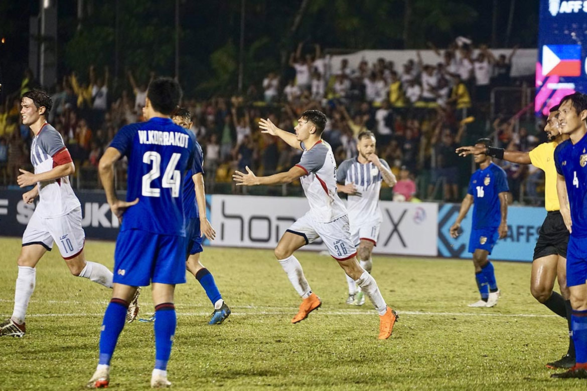 Tiebreaker Times Super sub Jovin Bedic strikes late, salvages Philippines draw against Thailand Football News Philippine Azkals  Thailand (Football) Sven-Goran Eriksson Supachai Chaided Milovan Rajevac Michael Falkesgaard Jovin Bedic Chatchai Bootprom 2018 AFF Suzuki Cup