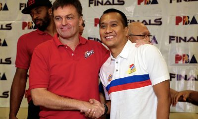 Tiebreaker Times Alex Compton, Chito Victolero face off 20 years after playing together Basketball News PBA  PBA Season 43 Magnolia Hotshots Chito Victolero Alex Compton Alaska Aces 2018 PBA Governors Cup