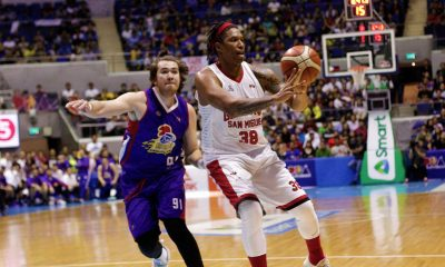 Tiebreaker Times Joe Devance locked in as Ginebra fights for life: 'I don't care about my foot right now' Basketball News PBA  Tim Cone PBA Season 43 Joe Devance Barangay Ginebra San Miguel 2018 PBA Governors Cup