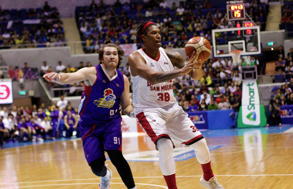 0b72649631 Tiebreaker Times Joe Devance locked in as Ginebra fights for life: 'I don'.  Photo from PBA Images