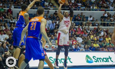 Tiebreaker Times Justin Brownlee's triple-double powers top-seed Ginebra past TNT Basketball News PBA  TNT Katropa Tim Cone Scottie Thompson Roger Pogoy PBA Season 43 Marqus Blakely Jayson Castro Greg Slaughter Bong Ravena Barangay Ginebra San Miguel 2018 PBA Governors Cup