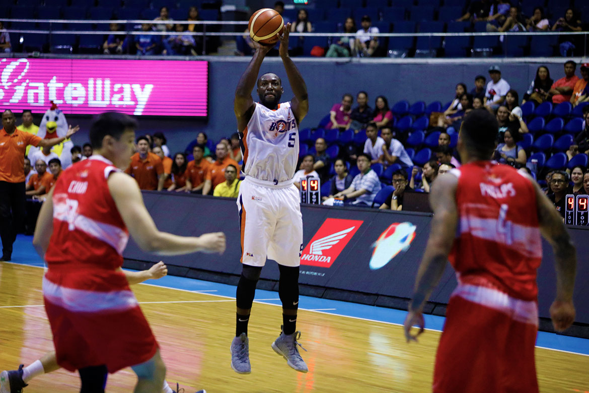 Tiebreaker Times Allen Durham wills Meralco to the semis Basketball News PBA  PBA Season 43 Norman Black Meralco Bolts Matthew Wright Louie Alas Justin Chua Jason Perkins Eugene Phelps Chris Newsome Calvin Abueva Baser Amer Allen Durham 2018 PBA Governors Cup