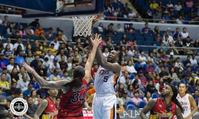 Tiebreaker Times Meralco thrashes San Miguel by 30, assured of at least a playoff for 8th Basketball News PBA  San Miguel Beermen Reynel Hugnatan PBA Season 43 Norman Black Meralco Bolts Leo Austria Kevin Murphy Chris Newsome Allen Durham Alex Cabagnot 2018 PBA Governors Cup