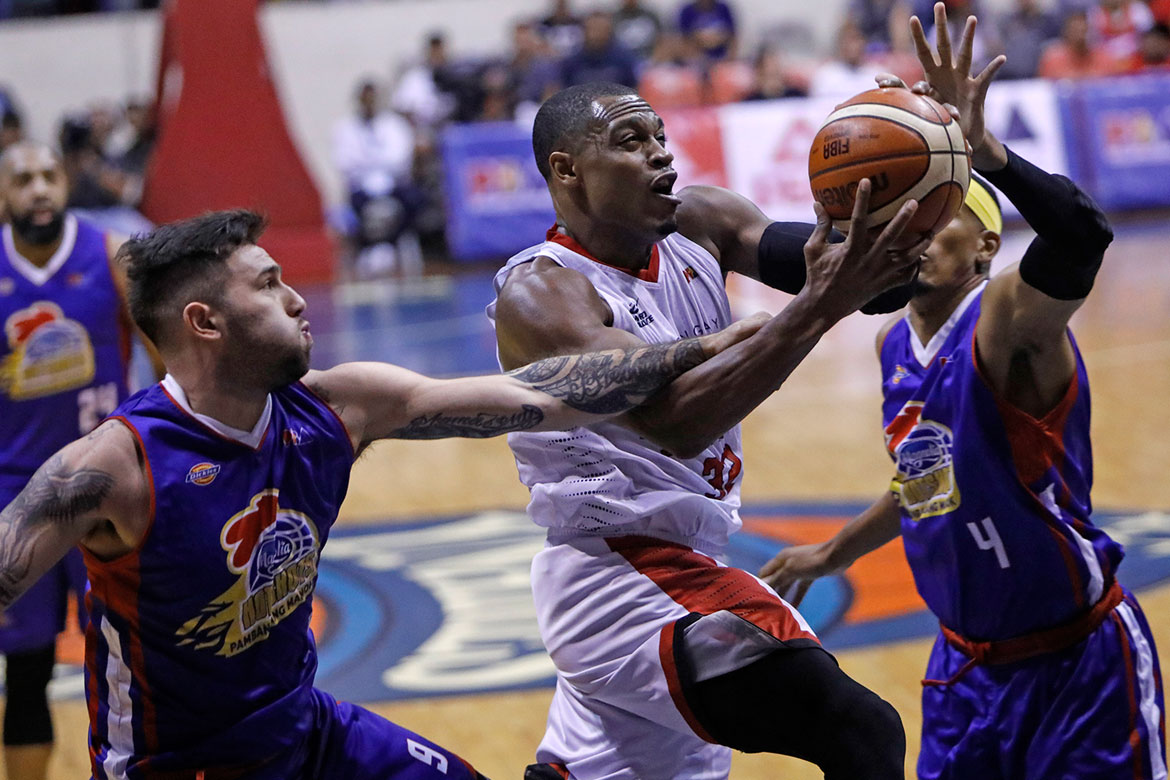 Tiebreaker Times Justin Brownlee laments: 'Man, kind of fell into a trap tonight' Basketball News PBA  PBA Season 43 Justin Brownlee Barangay Ginebra San Miguel 2018 PBA Governors Cup
