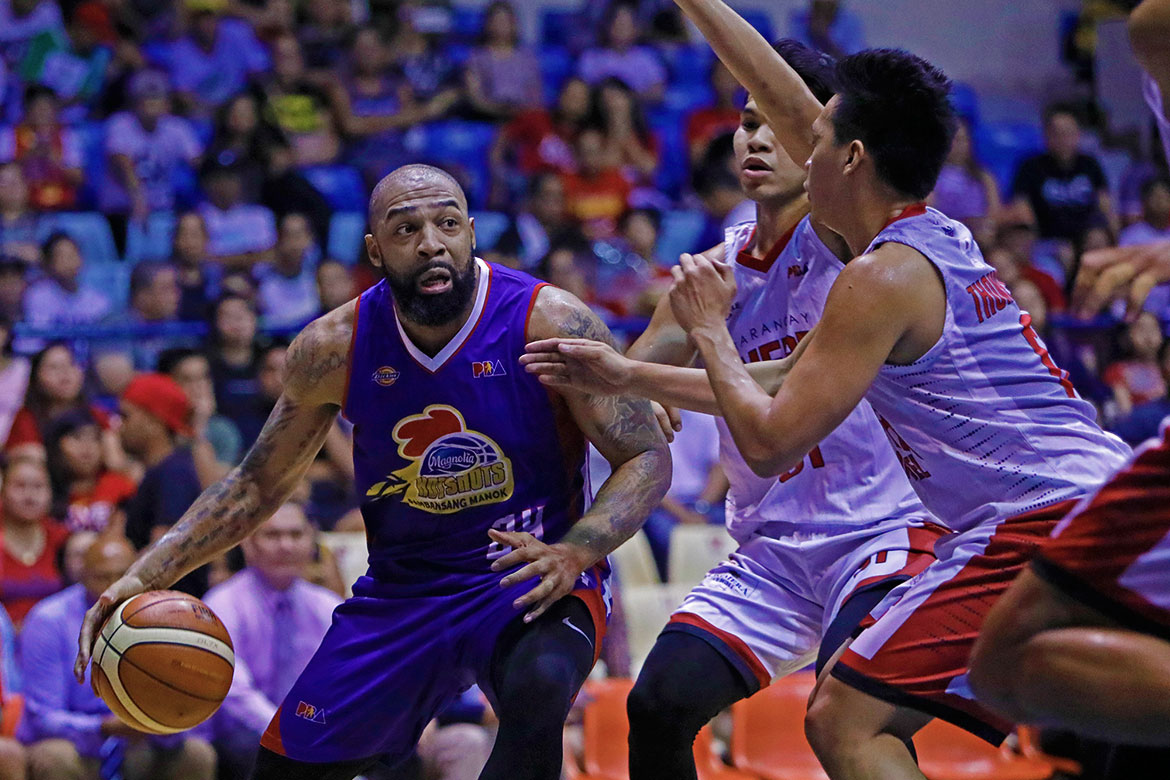 Tiebreaker Times Romeo Travis not taking any credit as Hotshots earn early series lead Basketball News PBA  Romeo Travis PBA Season 43 Magnolia Hotshots 2018 PBA Governors Cup