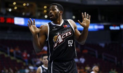 Tiebreaker Times Even with monster outing, Mike Harris lauds lights out Aces for sealing Bolts Basketball News PBA  PBA Season 43 Mike Harris Meralco Bolts 2018 PBA Governors Cup
