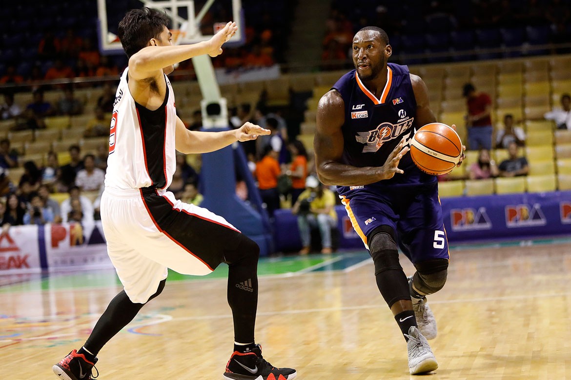 Tiebreaker Times Though disappointed, Allen Durham still feels confident in Meralco's Game 4 chances Basketball News PBA  PBA Season 43 Meralco Bolts Allen Durham 2018 PBA Governors Cup