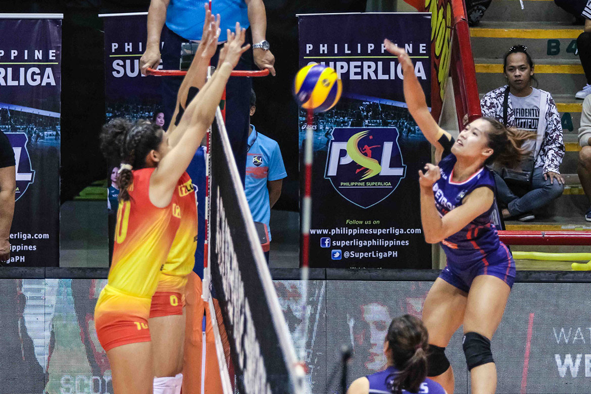 Tiebreaker Times Bernadeth Pons ends slump just in time for F2 Logistics showdown News PSL Volleyball  Petron Blaze Spikers Bernadeth Pons 2018 PSL Season 2018 PSL All Filipino Conference