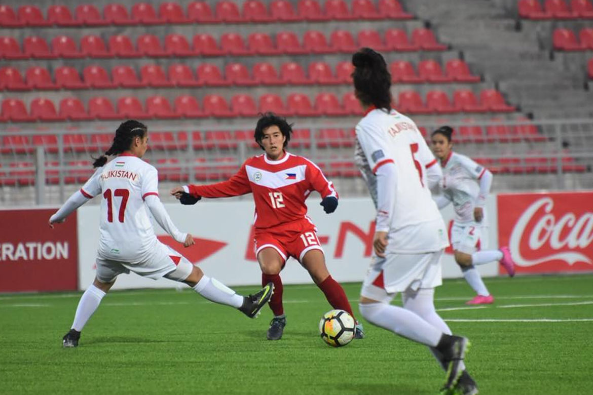 Tiebreaker Times Sara Castañeda powers Philippines past Tajikistan for second win Football News Philippine Malditas  Tajikistan (Football) Shelah Mae Cadag Sara Castaneda Let Dimzon Inna Palacios 2020 AFC Women's Olympic Qualifying Tournament