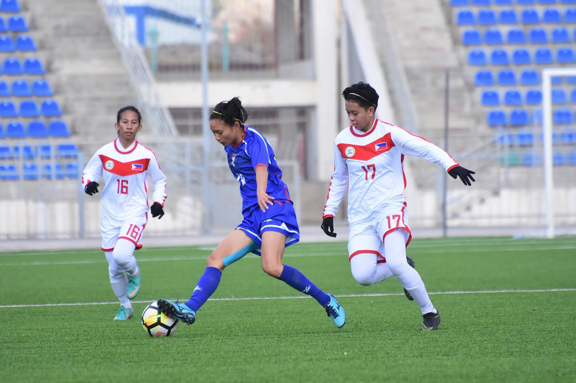 Tiebreaker Times Philippines suffers rout against Chinese-Taipei as Kyla Inquig figures in scuffle Football News Philippine Malditas  Let Dimzon Kyla Inquig 2020 AFC Women's Olympic Qualifying Tournament
