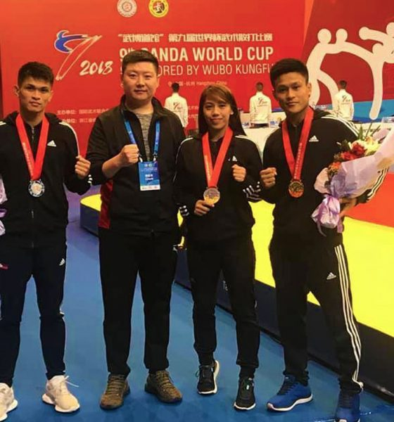 Tiebreaker Times Arnel Mandal takes home gold in Sanda World Cup News Wushu  Francisco Solis Divine Wally Arnel Mandal 9th Wushu Sanda World Cup