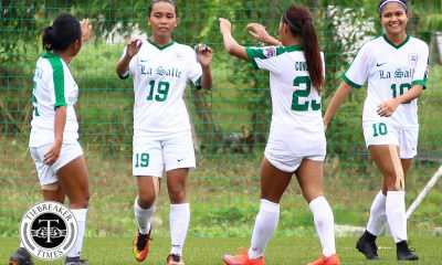 Tiebreaker Times PFFWL Roundup: La Salle overtakes UST as season nears finish line ADMU DLSU FEU Football News PFF Women's League UP  Vanessa Estrada UP Women's Football Suettie Simoy Rocelle Mendaño Rocelle Lecera PFF Women's League Season 2 Paulina Naguiat Natasha Alquiros Marigen Ariel Kyra Dimaandal Joyce Onrubia Jovelle Sudaria Hiraya FC Glaiza Artus FEU Women's Football DLSU Women's Football De La Salle Zobel Girls Football Cathy Cabrera Carmen Castellanos Carmela Altiche Ateneo Women's Football Andrea Montilla Alvin Ocampo