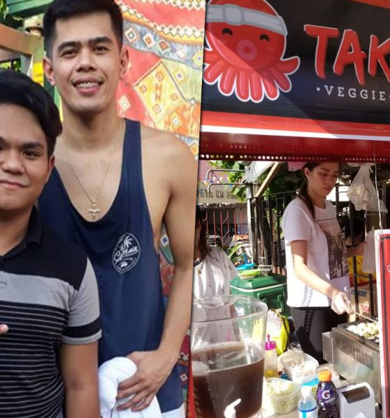 Tiebreaker Times Carl Cruz spends 'undas' break by putting up takoyaki stall Bandwagon Wire News PBA  PBA Season 43 Carl Cruz Alaska Aces 2018 PBA Governors Cup
