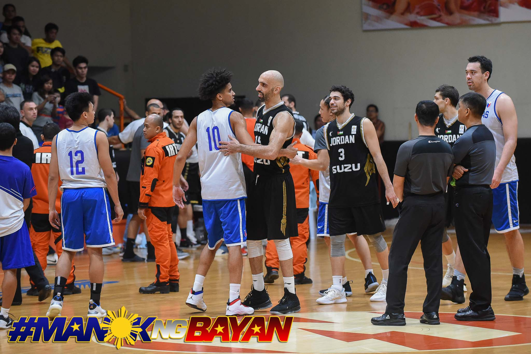 Tiebreaker Times Second Gilas-Jordan tuneup ends abruptly as tempers flare 2019 FIBA World Cup Qualifiers Basketball Gilas Pilipinas News  Yeng Guiao Scottie Thompson LA Tenorio Joseph Steibing Jordan (Basketball) Japeth Aguilar Greg Slaughter Gilas Elite 2019 FIBA World Cup Qualifiers