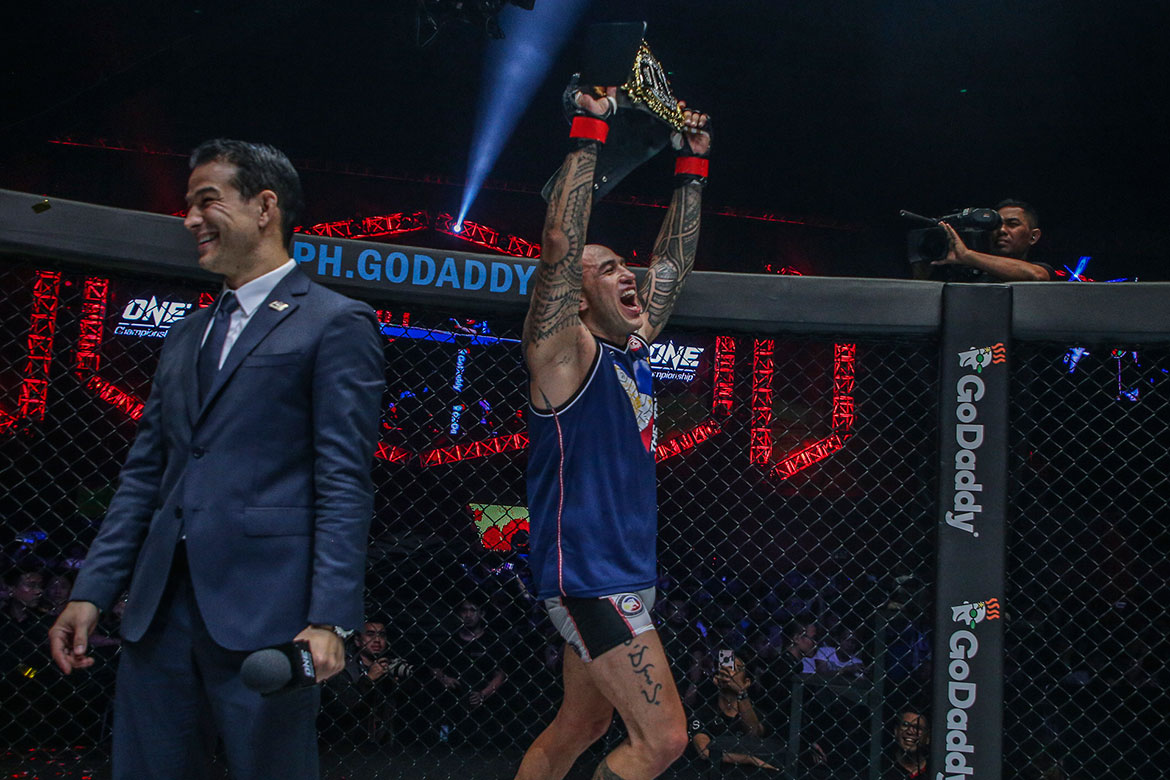 Tiebreaker Times Gone in 64 Seconds: Brandon Vera retains heavyweight crown in dominant fashion Mixed Martial Arts News ONE Championship  ONE: Conquest of Champions Mauro Cerilli Brandon Vera