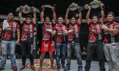 Tiebreaker Times Team Lakay pay tribute to Mark Sangiao: 'Dapat may belt na rin siya' Mixed Martial Arts News ONE Championship  Team Lakay ONE: Conquest of Champions Mark Sangiao Kevin Belingon Joshua Pacio Geje Eustaquio Eduard Folayang