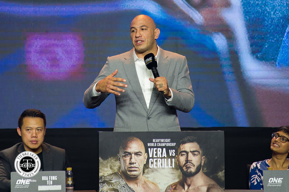 Tiebreaker Times Brandon Vera ready to battle it out in 'The Apprentice: ONE Championship' boardroom News ONE Championship  Xiong Jing Nan Sage Northcutt Ritu Phogat Demetrious Johnson Chatri Sityodtong Brandon Vera Apprentice: ONE Championship Angela Lee