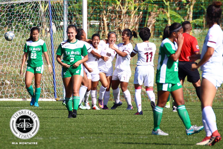 PFFWL-2018-M1-UP-def-Zobel-Dumada-og-Montilla-goal-celebration PFFWL Roundup: Undefeated La Salle seizes second straight title Uncategorized  - philippine sports news