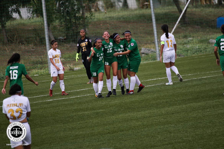 PFFWL-2018-M5-DLSU-def-UST-Castellanos-and-DLSU-celebrate PFFWL Roundup: Undefeated La Salle seizes second straight title Uncategorized  - philippine sports news
