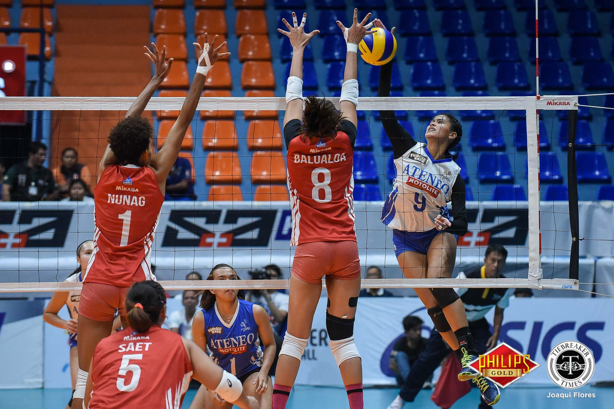 Tiebreaker Times Ponggay Gaston musters best game yet when Ateneo needed it most ADMU News PVL Volleyball  Ponggay Gaston Ateneo-Motolite Lady Eagles 2018 PVL Season 2018 PVL Open Conference