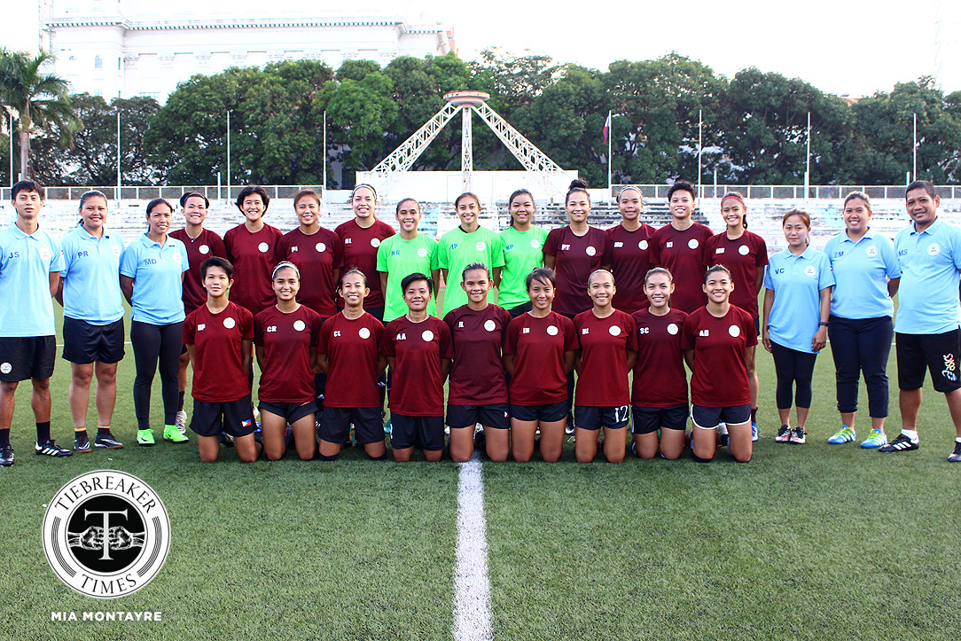 Tiebreaker Times Philippines commences Olympic dream with Singapore drubbing Football News Philippine Malditas  Singapore (Football) Shelah Mae Cadag Sara Castaneda Let Dimzon Irish Navaja Hali Long Alesa Dolino 2020 AFC Women's Olympic Qualifying Tournament
