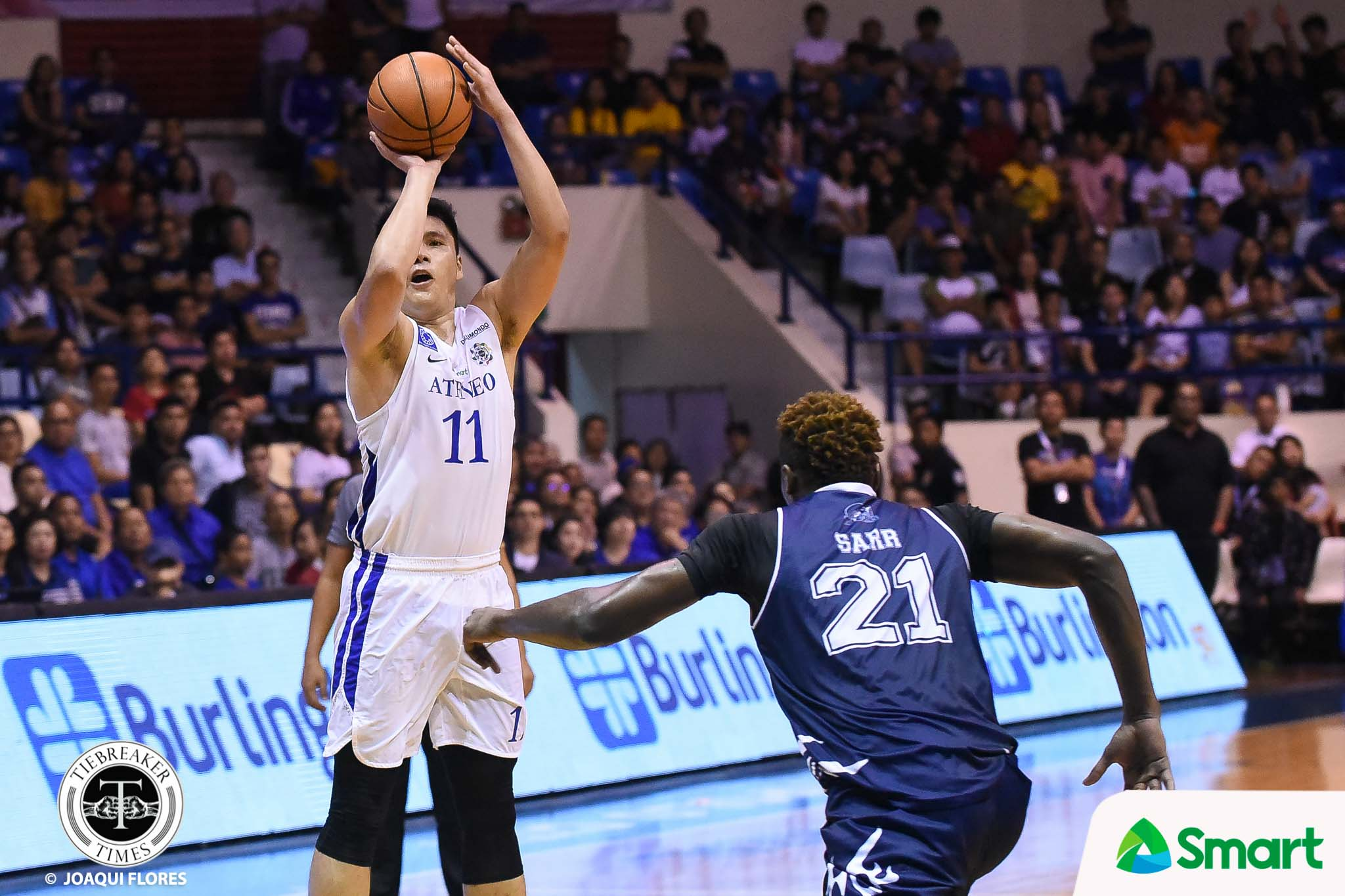 Tiebreaker Times Isaac Go wakes up from slumber as Ateneo gets back at Adamson ADMU AdU Basketball News UAAP  UAAP Season 81 Men's Basketball UAAP Season 81 Thirdy Ravena Tab Baldwin Simon Camacho Jerom Lastimosa Isaac Go Franz Pumaren Ateneo Men's Basketball Adamson Men's Basketball