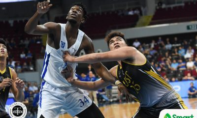 Tiebreaker Times Germy Mahinay gets physical with Angelo Kouame: 'Simpleng gulang lang' Basketball DLSU News UAAP UP  UST Men's Basketball UAAP Season 81 Men's Basketball UAAP Season 81 Germy Mahinay Ateneo Men's Basketball Angelo Kouame