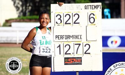 Tiebreaker Times FEU, UST resume tight race to crown ADMU AdU DLSU FEU News Track & Field UAAP UE UP UST  UST Tracksters UP Tracksters UE Tracksters UAAP Season 81 Women's Track and Field UAAP Season 81 Karen Janario Jolda Gagno Jiamari Kawachi FEU Tracksters Efrelyn Democer DLSU Tracksters Ateneo Tracksters Angel Carino Adamson Tracksters