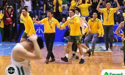 Tiebreaker Times Arvin Tolentino says not today as FEU boots out La Salle Basketball DLSU FEU News UAAP  UAAP Season 81 Men's Basketball UAAP Season 81 Santi Santillan Richard Escoto Olsen Racela Louie Gonzalez FEU Men's Basketball DLSU Men's Basketball Barkley Ebona Arvin Tolentino
