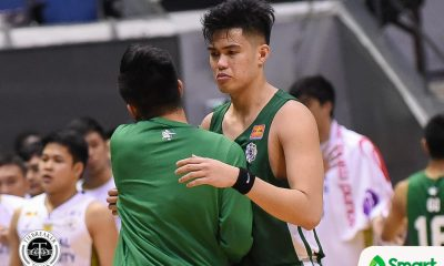Tiebreaker Times Homesick Santi Santillan breaks down as he badly misses wife, son Basketball DLSU News UAAP  UAAP Season 81 Men's Basketball UAAP Season 81 Santi Santillan Louie Gonzalez DLSU Men's Basketball