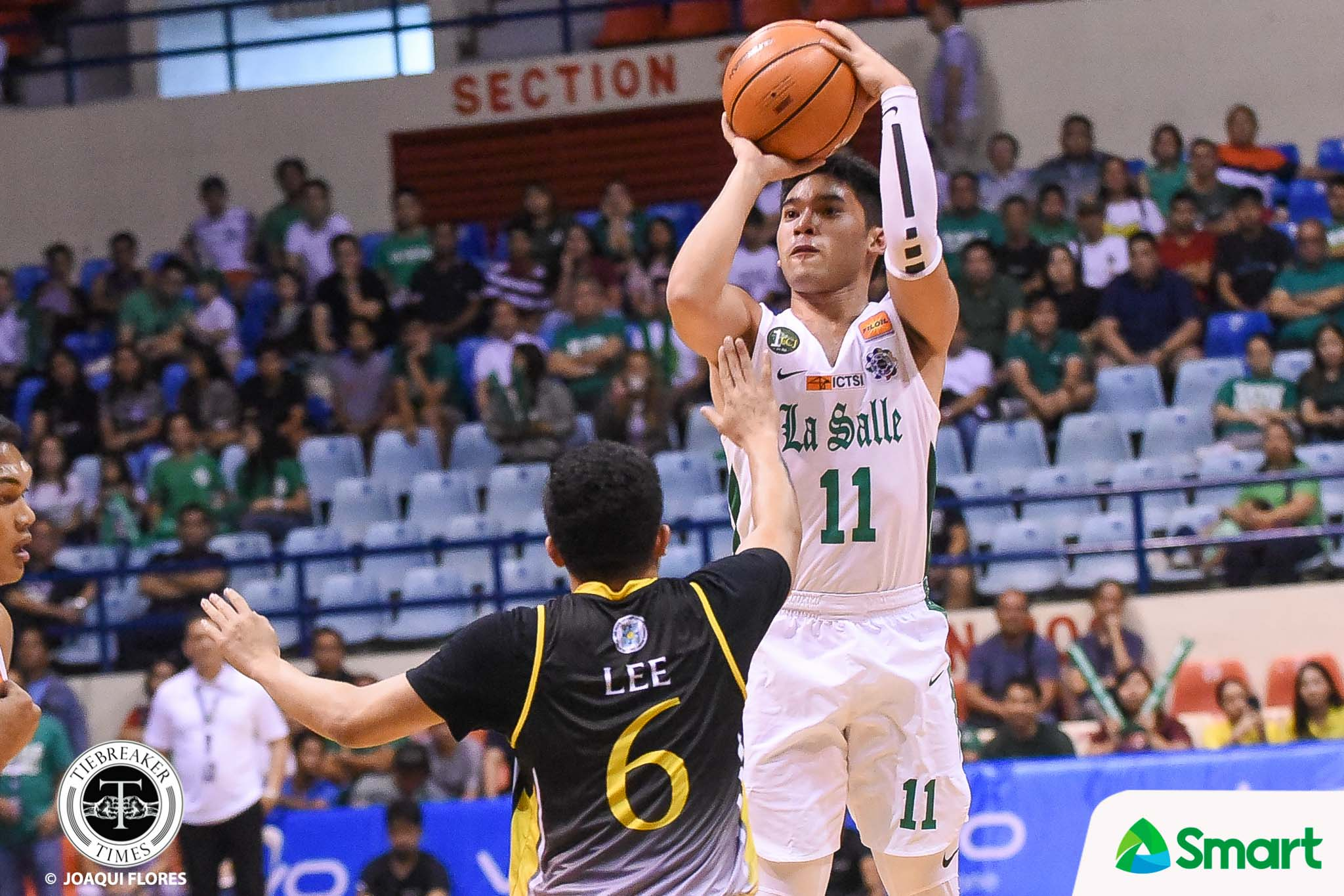 Tiebreaker Times Aljun Melecio, La Salle waylay UST with 41-point bloodbath Basketball DLSU News UAAP UST  UST Men's Basketball UAAP Season 81 Men's Basketball UAAP Season 81 Mark Dyke Louie Gonzalez Justine Baltazar DLSU Men's Basketball CJ Cansino Aljun Melecio Aldin Ayo