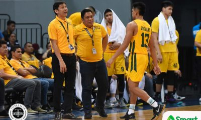 Tiebreaker Times Olsen Racela tells Tamaraws: 'Nabigyan kami ng biyaya so dapat lubusin namin' Basketball FEU News UAAP  Wendelino Comboy UAAP Season 81 Men's Basketball UAAP Season 81 Olsen Racela Hubert Cani FEU Men's Basketball Arvin Tolentino