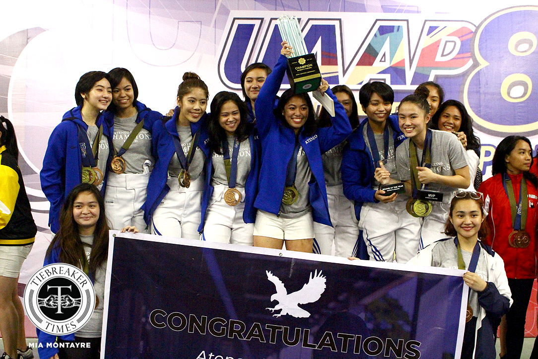 Tiebreaker Times New Phenom: Maxine Esteban, Ateneo end UE's 11-year reign ADMU DLSU Fencing News UAAP UE UP UST  UST Women's Fencing UP Women's Fencing UE Women's Fencing UAAP Season 81 Women's Fencing UAAP Season 81 Patricia Sarmiento Maxine Esteban Marielle Peralta DLSU Women's Fencing Ateneo Women's Fencing