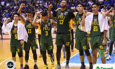 Tiebreaker Times Olsen Racela pays tribute to graduating Tamaraws Basketball FEU News UAAP  UAAP Season 81 Men's Basketball UAAP Season 81 RJ Ramirez Richard Escoto Prince Orizu Jasper Parker FEU Men's Basketball Axel Inigo Arvin Tolentino