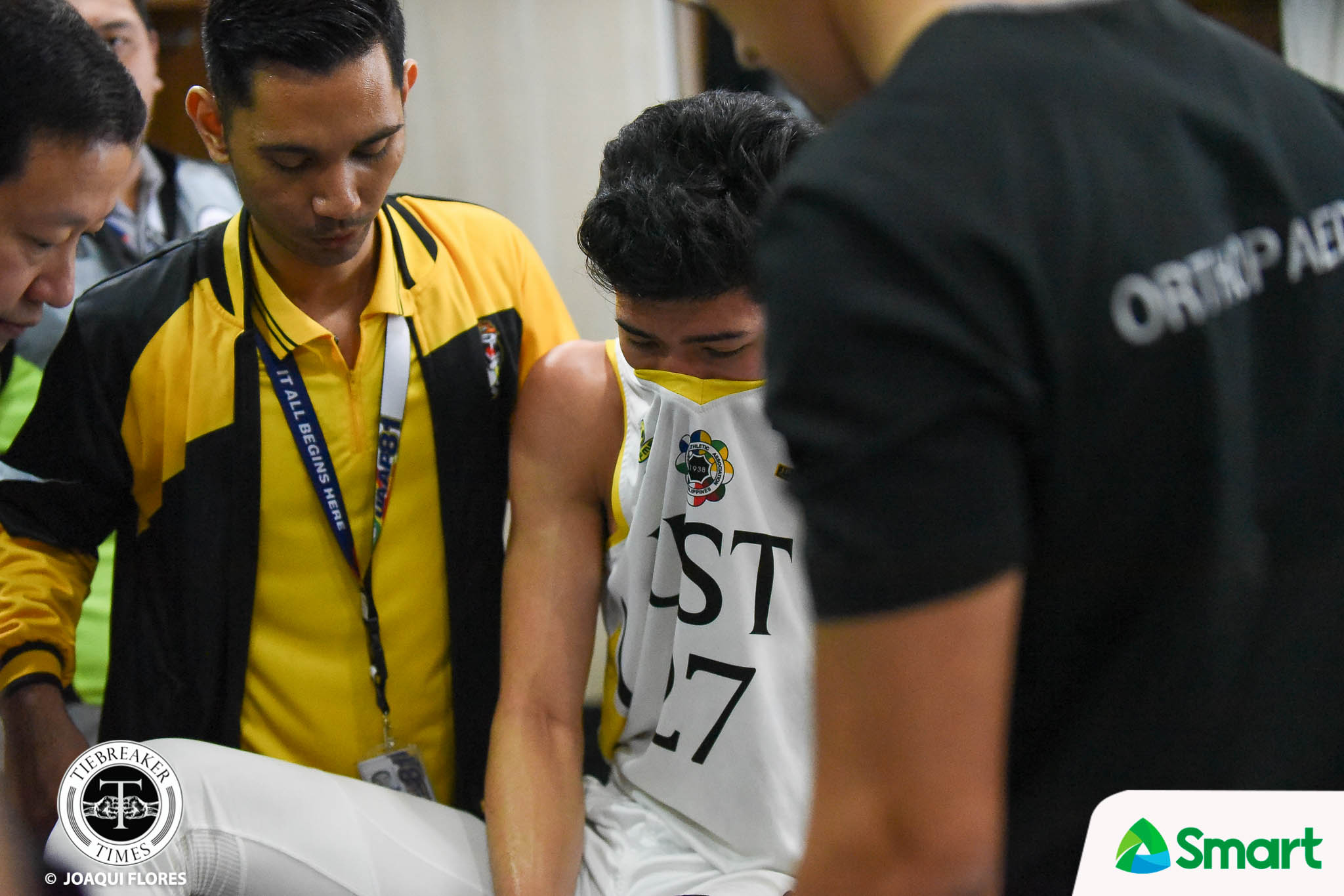 Tiebreaker Times Aldin Ayo shuts down CJ Cansino for final game: 'He had a good season' Basketball News UAAP UST  UST Men's Basketball UAAP Season 81 Men's Basketball UAAP Season 81 CJ Cansino Aldin Ayo