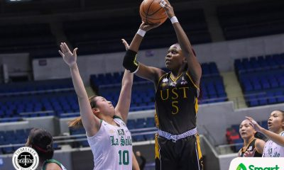 Tiebreaker Times Grace Irebu shows MVP form as UST knocks out La Salle Basketball DLSU News UAAP UST  UST Women's Basketball UAAP Season 81 Women's Basketball UAAP Season 81 Tin Capilit Sai Larosa Khate Castillo Kat Nunez Haydee Ong Grace Irebu DLSU Women's Basketball Cholo Villanueva Camille Claro