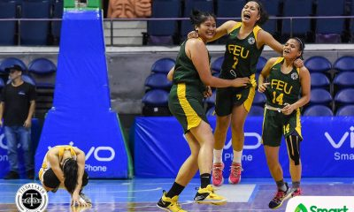 Tiebreaker Times Clock strikes midnight for UST as FEU advances to Finals Basketball FEU News UAAP UST  UST Women's Basketball UAAP Season 81 Women's Basketball UAAP Season 81 Tin Capilit Sai Larosa Haydee Ong Grace Irebu FEU Women's Basketball fatima quiapo Clare Castro Bert Flores