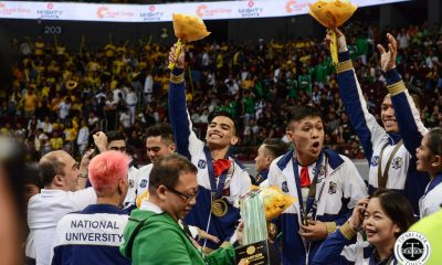 Tiebreaker Times NU Pep captain on regaining CDC crown: 'Tama na isa pinahiram namin' Cheerleading News NU UAAP  UAAP Season 81 Cheerdance Competition UAAP Season 81 NU Pep Squad Kevin Lacbong Ghicka Bernabe