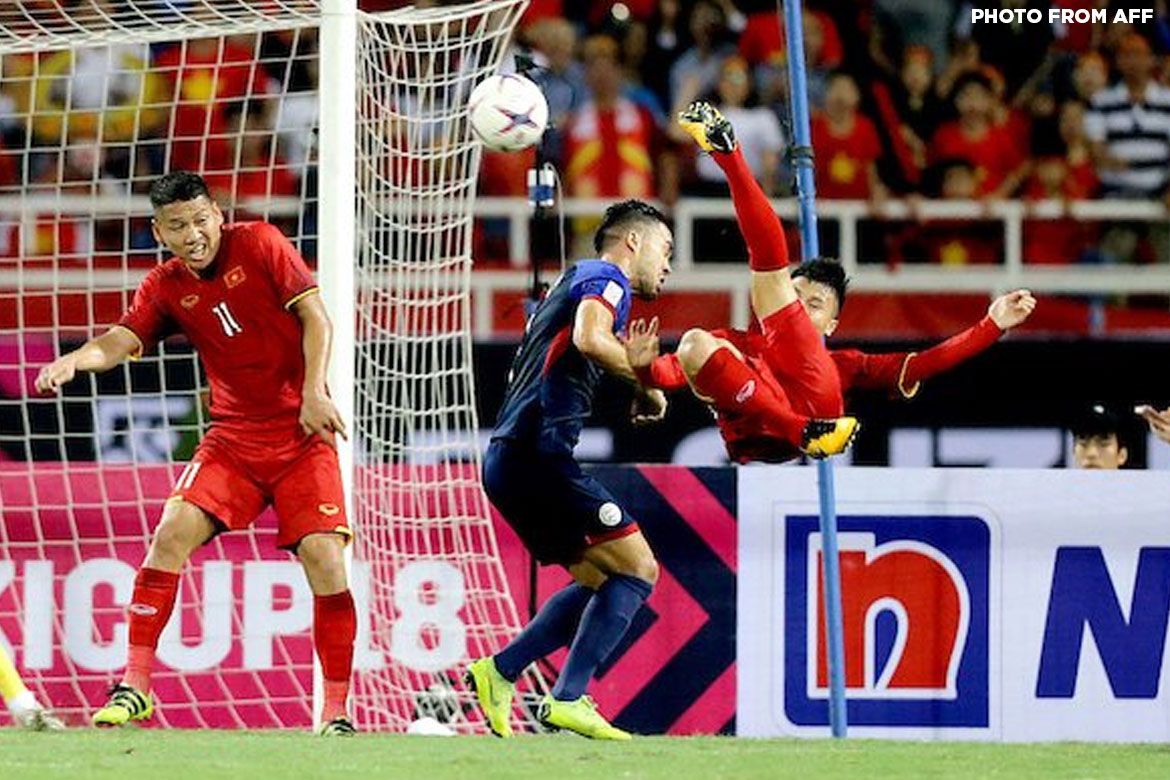 Tiebreaker Times Philippines unable to replicate Miracle in Hanoi, falls in semis Football News Philippine Azkals  Vietnam (Football) Sven-Goran Eriksson Patrick Deyto Park Hang Seo Nguyen Quang Hai Nguyen Cong Phuong James Younghusband Dang Van Lam 2018 AFF Suzuki Cup