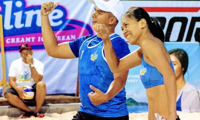 Tiebreaker Times Kiefer Ravena, Alyssa Valdez relish first Beach Volley game together Beach Volleyball BVR News  Kiefer Ravena John Vic De Guzman Charo Soriano Alyssa Valdez 2018 BVR Season