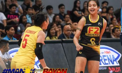 Tiebreaker Times Ara Galang, Cha Cruz-Behag find groove in time to keep F2 Logistics alive News PSL Volleyball  F2 Logistics Cargo Movers Cha Cruz Ara Galang 2018 PSL Season 2018 PSL All Filipino Conference