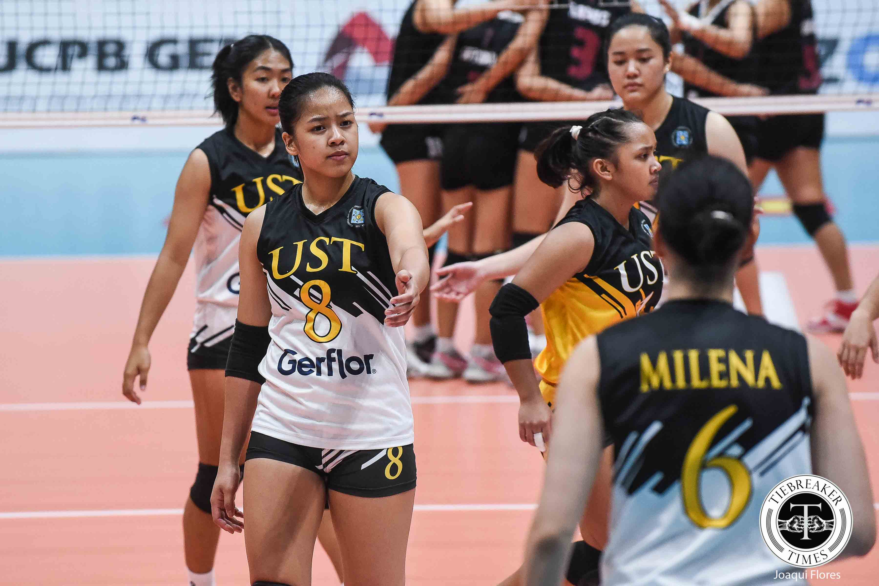 Tiebreaker Times As much-anticipated debut nears, Eya Laure shrugs off Rookie of the Year hype News UAAP UST Volleyball  UST Women's Volleyball UAAP Season 81 Women's Volleyball UAAP Season 81 Eya Laure